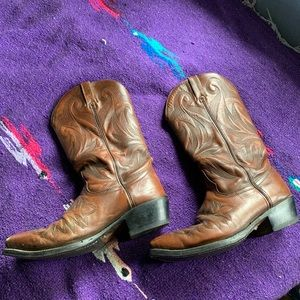 Real Leather Cowboy Boots 8.5